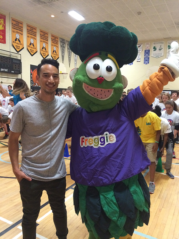 Freggie & Carlos from YTV at 2016 Healthy Me Week launch