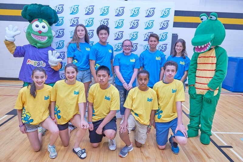 Freggie and BOKs Student leaders at the 2016 Healthy Me Week Launch