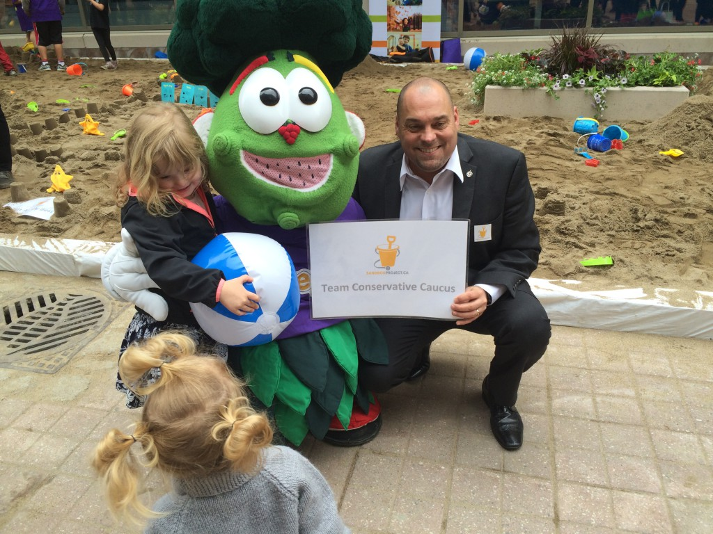 Freggie and friends at the 2016 Sandbox